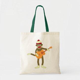 Sock Monkey Acoustic Guitar Tote Bag