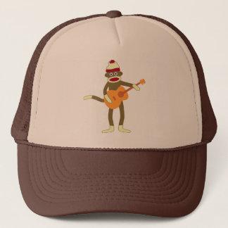Sock Monkey Acoustic Guitar Trucker Hat