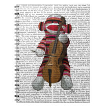 Sock Monkey and Cello Notebook