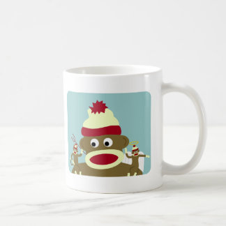 Sock Monkey Angel & Devil Coffee Mug