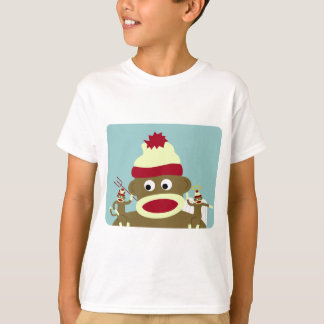 Sock Monkey Angel & Devil T-Shirt