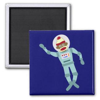 Sock Monkey Astronaut Magnets