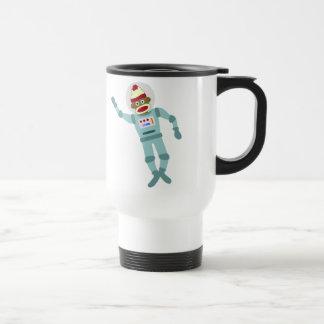 Sock Monkey Astronaut Travel Mug