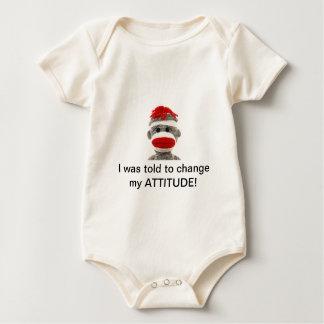 Sock Monkey Baby BAD ATTITUDE Baby Bodysuit