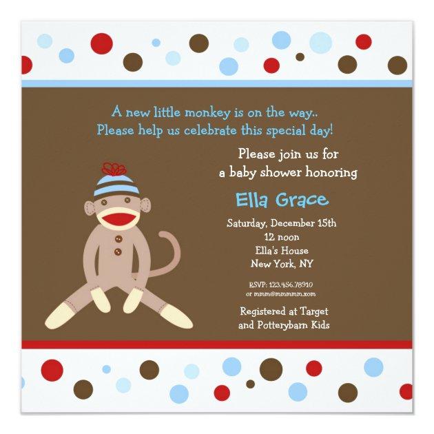Sock Monkey Invites with best invitations design