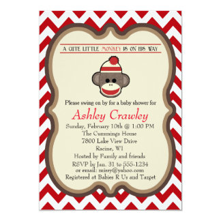 Sock Monkey Baby Shower invite - customize