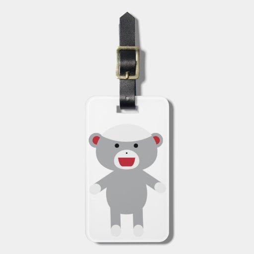 Sock Monkey Bag Tag