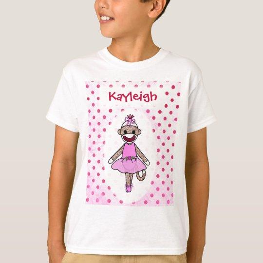 Sock Monkey Ballerina (personalize it) T-Shirt