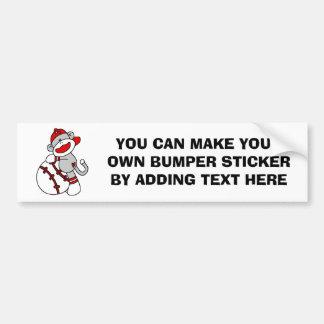 Sock Monkey Baseball T-shirts and Gifts Bumper Sticker