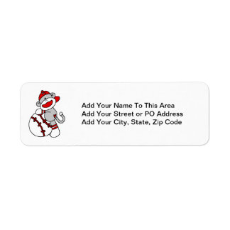 Sock Monkey Baseball T-shirts and Gifts Label