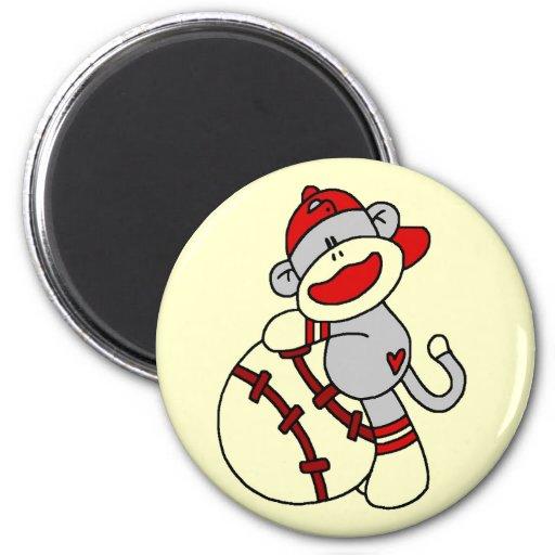 Sock Monkey Baseball T-shirts and Gifts Magnet