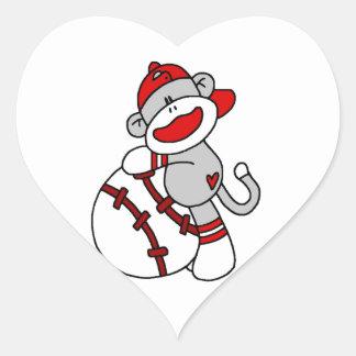 Sock Monkey Baseball T-shirts and Gifts Sticker