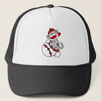 Sock Monkey Baseball T-shirts and Gifts Trucker Hat