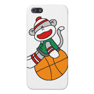 Sock Monkey Basketball and Gifts iPhone SE/5/5s Case