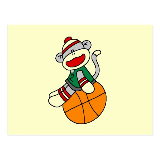 Sock Monkey Basketball T-shirts and Gifts Post Card
