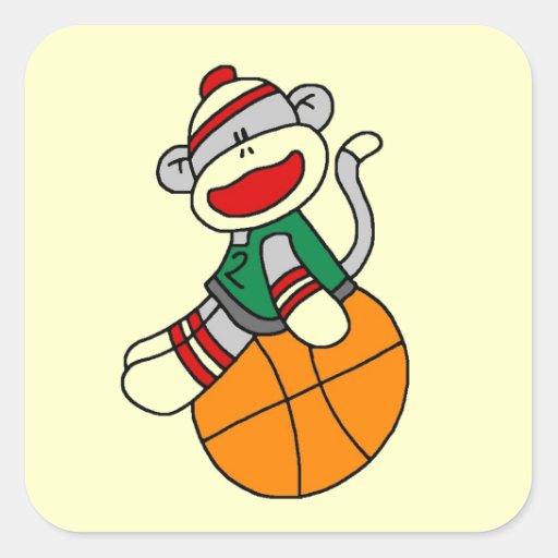 Sock Monkey Basketball T-shirts and Gifts Sticker