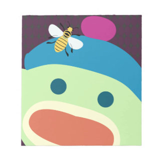 Sock Monkey & Bee Notepad