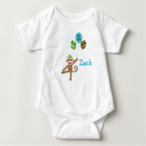 Sock Monkey Birthday Baby T-Shirt