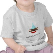 Sock Monkey Birthday Boy T-Shirt