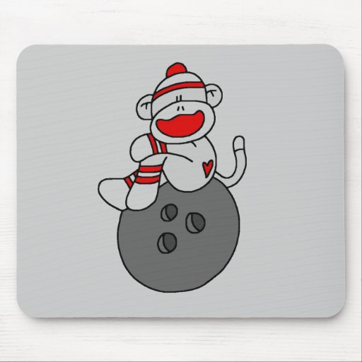 Sock Monkey Bowling T-shirts and Gifts Mouse Pad