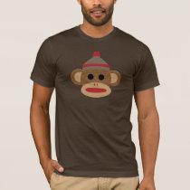 Sock Monkey Brown Men's Basic T-Shirt