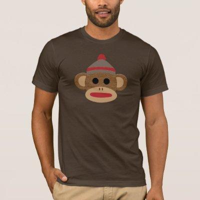 9004e4f4 Sock Monkey Strangle T-Shirt   Zazzle.com