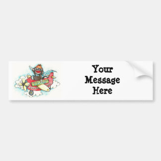 Sock Monkey Business Airlines Bumper Stickers