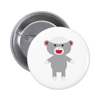 Sock Monkey Pinback Button