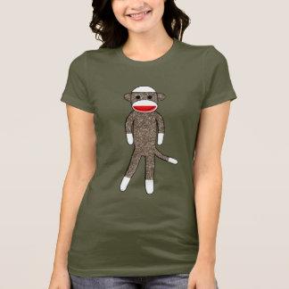 Sock Monkey by lil kolohe Jessica T-Shirt