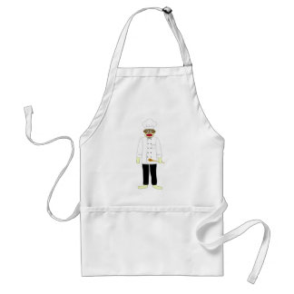 Sock Monkey Chef Adult Apron