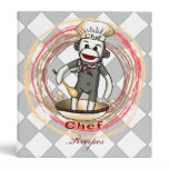 Sock Monkey Chef Binder