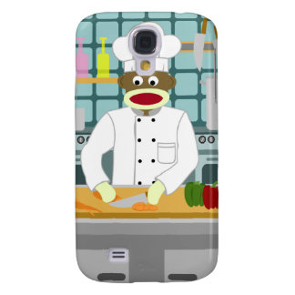 Sock Monkey Chef Samsung Galaxy S4 Cover
