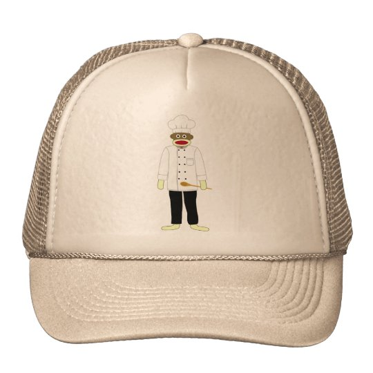 Sock Monkey Chef Trucker Hat