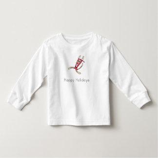 sock monkey christmas pajamas toddler t-shirt