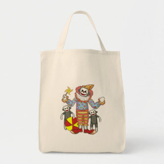 Sock Monkey Clown Canvas Bags
