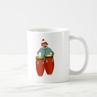 Sock Monkey Conga Drums Coffee Mug
