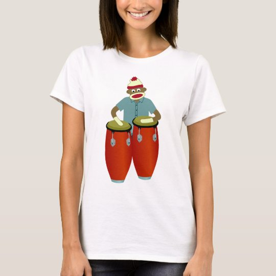 Sock Monkey Conga Drums T-Shirt