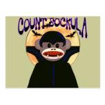 Sock Monkey Count Sockula Postcard