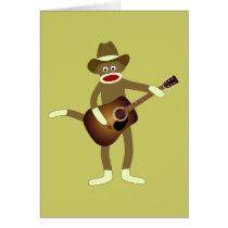 Sock Monkey Country Music Card