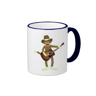 Sock Monkey Country Music Ringer Mug