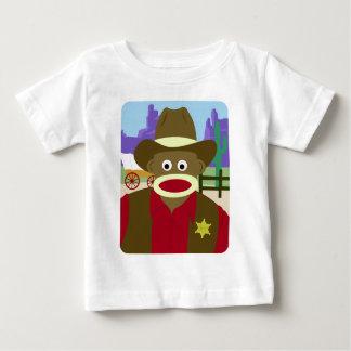 Sock Monkey Cowboy Baby T-Shirt