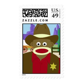 Sock Monkey Cowboy Stamps