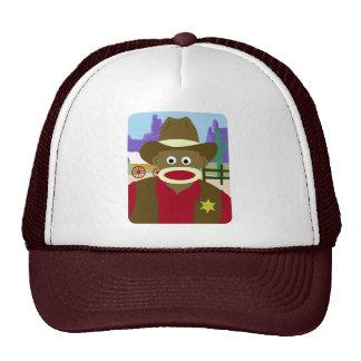 Sock Monkey Cowboy Trucker Hat