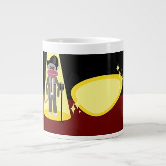 Sock Monkey Crooner Giant Coffee Mug