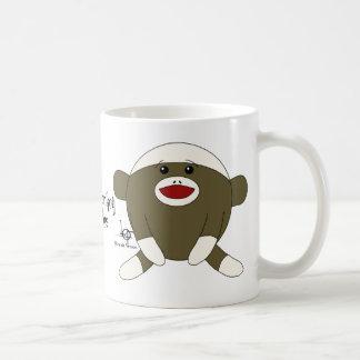 Sock Monkey Cuddles Coffee Mug