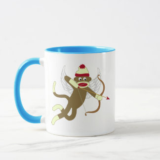 Sock Monkey Cupid Mug