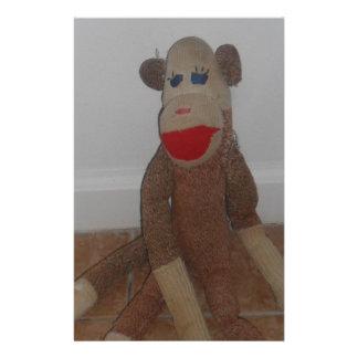 Sock Monkey Custom Stationery
