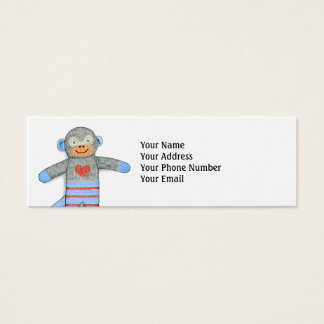 Sock Monkey Customizable Business Card
