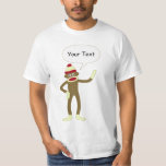 Sock Monkey Customizable Comic Speech Bubble T Shirt