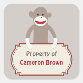 Sock Monkey customized sticker